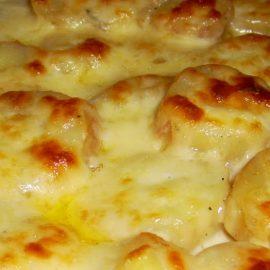 Картофи на фурна със шунка